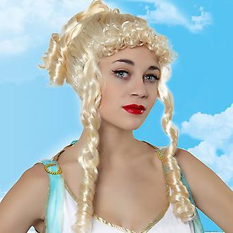 Peruukit Aaltoilevat hiukset Platinum blondi 117932