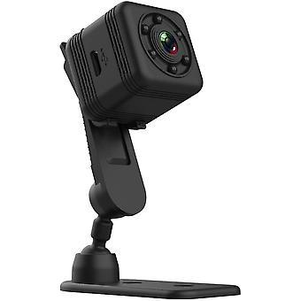 वायरलेस कैमरा मिनी स्मार्ट वाईफाई कैमरा एचडी एसक्यू29 एचडी कैमरा पोर्टेबल नाइट विजन इंडोर और आउटडोर मोशन डिटेक्शन (ब्लैक)