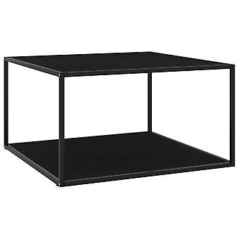 vidaXL Side Table Black with Black Glass 90x90x50 cm
