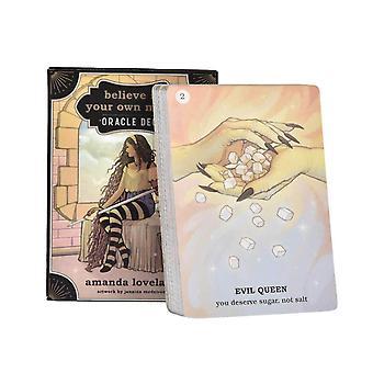 45pcs Märchen Tarot Karte Boost Selbstvertrauen Magic Board Kartenspiel Englisch Weissagung Tarot