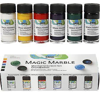 Set van 6 marbling inkten voor volwassenen ambachten - basiskleuren