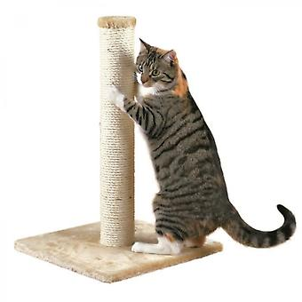 Parla Cat Tree Beige Plush And Natural Sisal