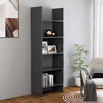 vidaXL bibliothèque gris 60x35x180 cm plaque de particules