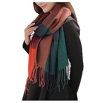 Winter Long Scarf Warm Wrap Wool Women's Spinning Fringed Shawl(ASF03)