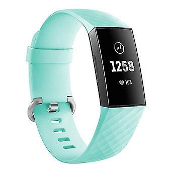 Pulsera de silicona compatible con Fitbit Charge 3 (turquesa)