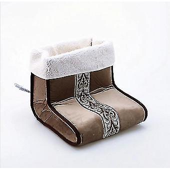 Electric Heated Foot Warmer,winter office bedroom foot warmer(Brown)