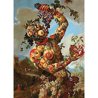 Papel pintado Arte Mural Alegoría Antropomórfica del Otoño por Giovanni Paolo Castelli
