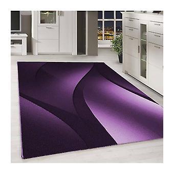 Tapis courtflor tapis design ombre motif violet noir meliert