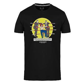 "Weekend Offender 2110 ""micky"" Snatch Film Grafiskt tryck Halvärmad T-shirt - Svart"