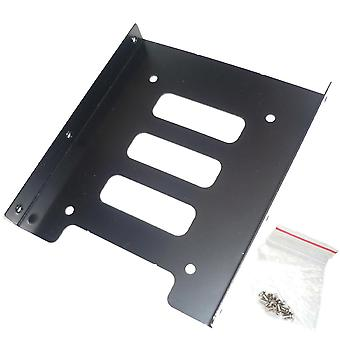 """Hard Drive Caddy Bracket Adapter 2.5"""" To 3.5"""" Ssd Hdd Mounting Tray For Pc Computer"""