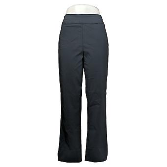 MarlaWynne Women's Pants Twill FLATTERfit With Slit Blue 646478
