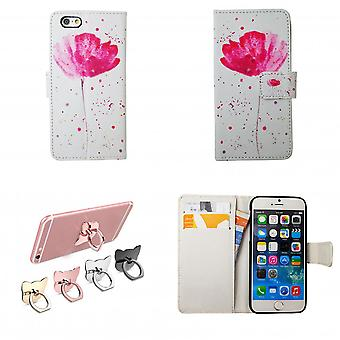 Iphone 6/6s Case/wallet leather-flowers