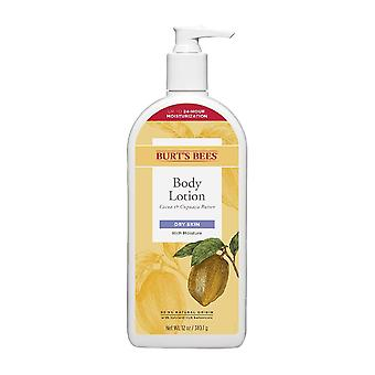 Burt's bees cocoa & cupuau butter body lotion, dry skin, 12 oz