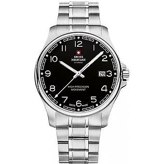 Reloj suizo Military By Chrono Silver Stainless Steel SM30200.16 para hombre