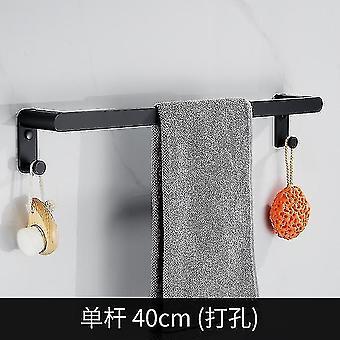 Bathroom accessory sets towel hanger wall mounted towel rack bathroom space aluminum black grey towel bar rail towel holder