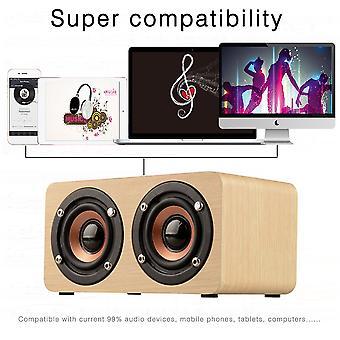 Haut-parleur en bois Puissant haut-parleur Bluetooth haute performance double haut-parleurs