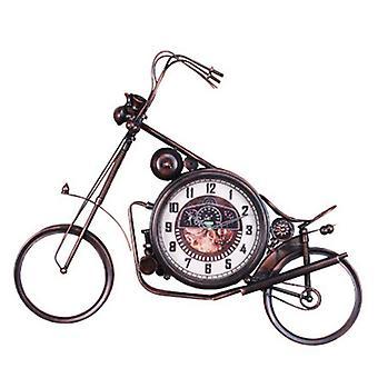 American Village Loft Iron Bicycle Wall Clock