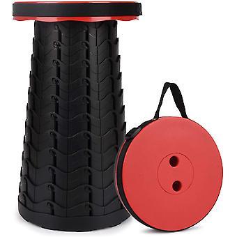 Przenośny składany stołek, czerwony stołek kempingowy do wędkowania / grillowania / zajęć wewnątrz / na zewnątrz