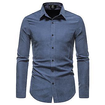 Mile Miesten muoti kauluksen pitkähihainen muodollinen paita Business Work paidat