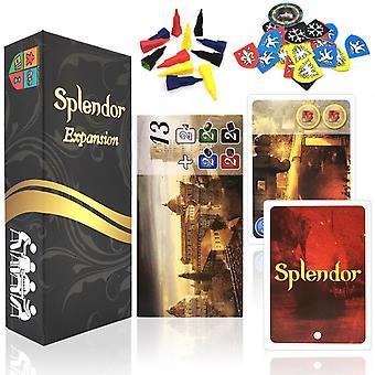 Splendor Korttipelit Laajennus board peli Englanti & Espanjan säännöt Family Party Aikuisten rahoitus Investointi koulutus Taloustiede