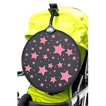 MyBuggy copain parasol rose étoiles soleil ombre Clip sur voiture aveugle UPF50 +