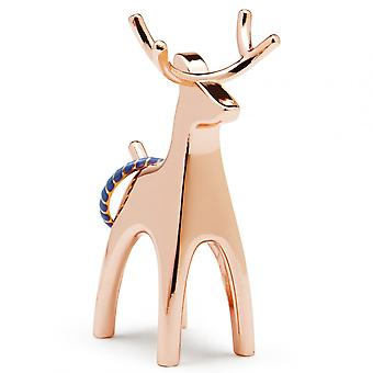 Umbra Copper Anigram Reindeer Ring Holder