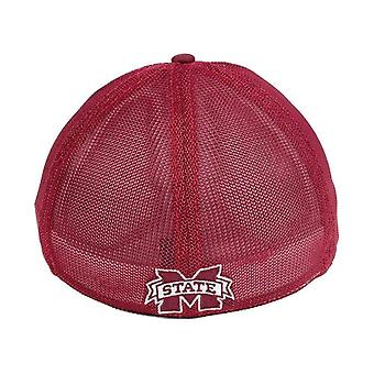 """Mississippi State Bulldogs NCAA """"Circle"""" A-Flex Stretch Fitted Hat"""