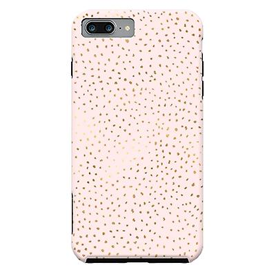 ArtsCase Designers Cases Dotted Pink and Gold for Tough iPhone 8 Plus  / iPhone 7 Plus