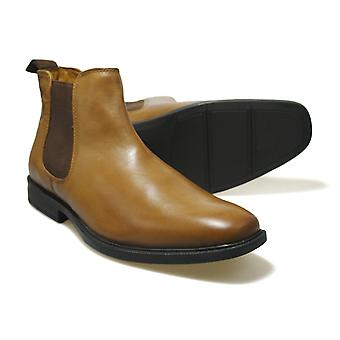 Red Tape RTX Denwick Tan Leather Men's Chelsea Boots
