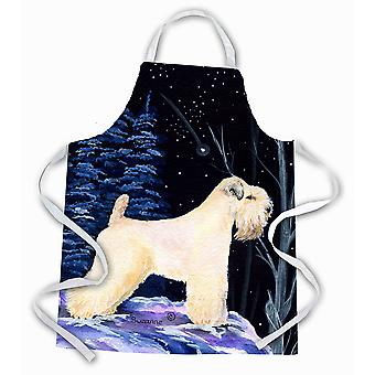 Carolines Treasures  SS8386APRON Starry Night Wheaten Terrier Soft Coated Apron