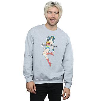 DC Comics Men's Wonder Woman Jump Sweatshirt