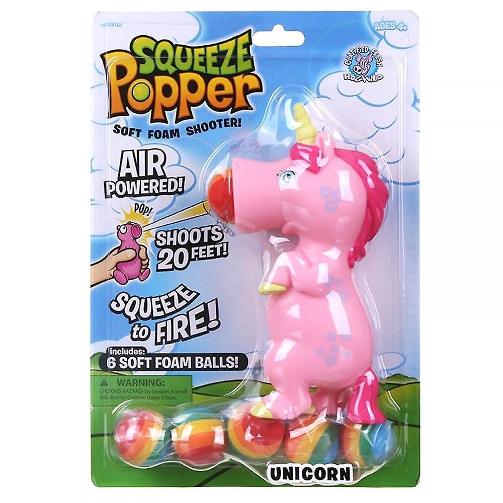 Cheatwell Games Pink Unicorn Squeeze Popper - Soft Foam Shooter***