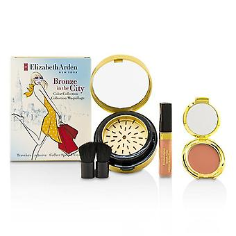 Elizabeth Arden bronse i byen Color Collection (1 X Bronzing pulver 1 X rødme 1 X Lip Gloss 1 X Brush)-4pcs
