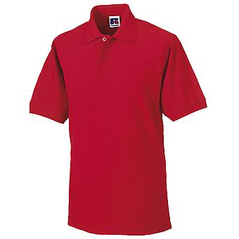 Russell Collection Hard Wearing Polycotton Mens Short Sleeve Polo Shirt