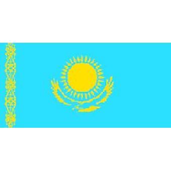 Kazachstan vlag 5 ft x 3 ft met oogjes voor verkeerd-om
