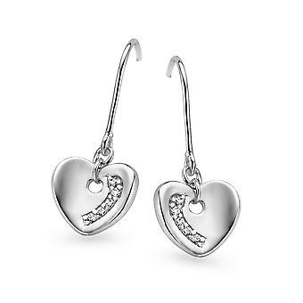 Orphelia Silver 925 Earring Heart Zirconium   ZO-5123