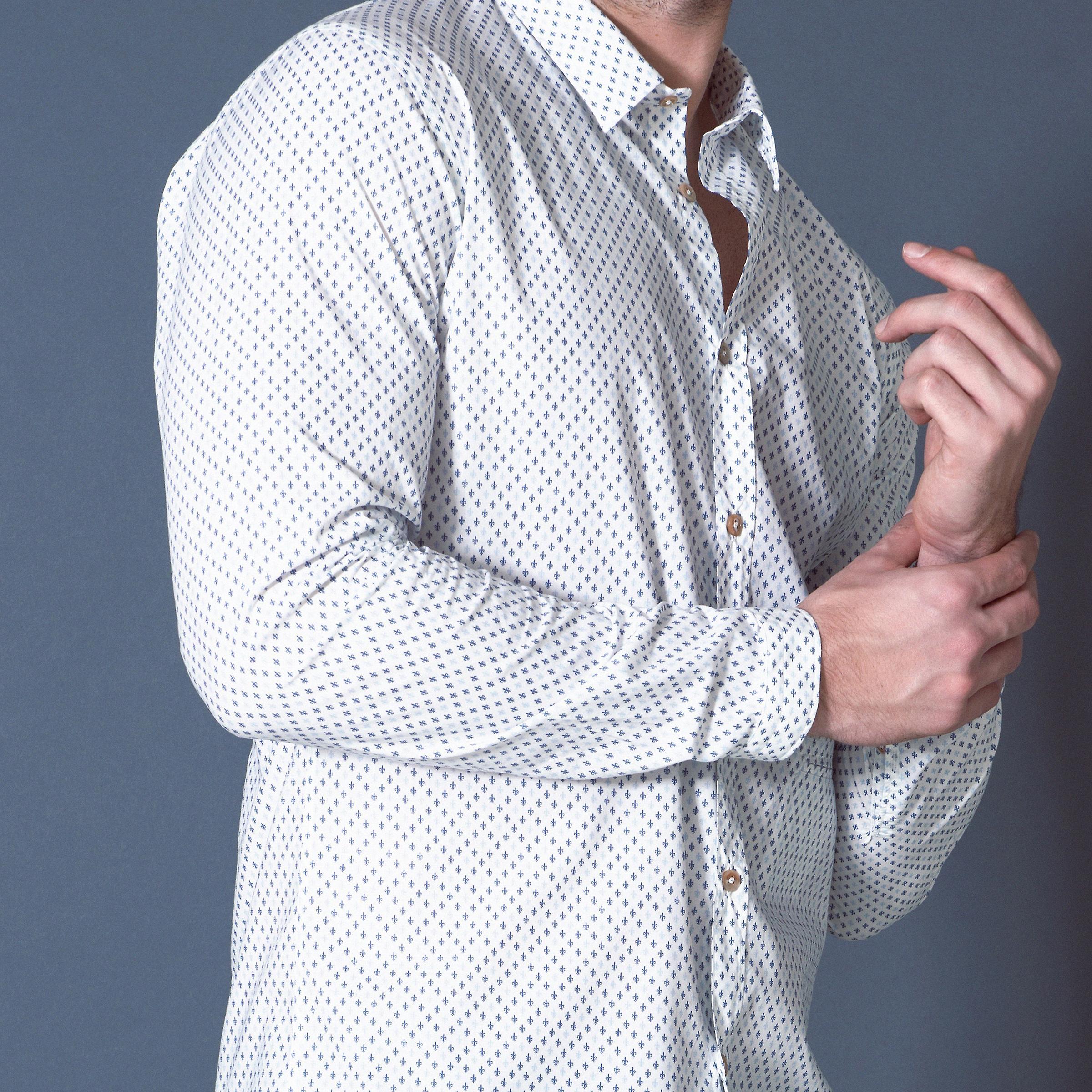 Fabio Giovanni Potenza Shirt - Lightweight Poplin Cotton Italian Casual Shirt