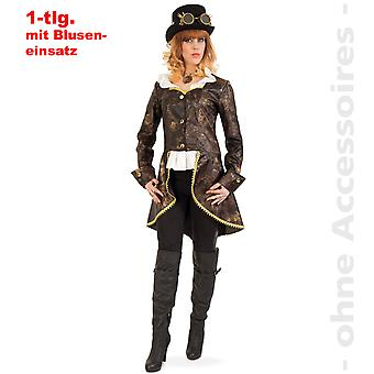 Traje steampunk redingote feminino descoberto pesquisadores Victorian Lady traje