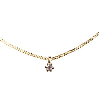 14 pendente oro con diamante