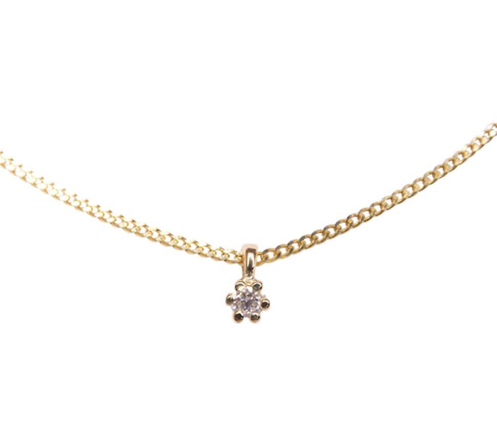 14 k gold pendant with diamond