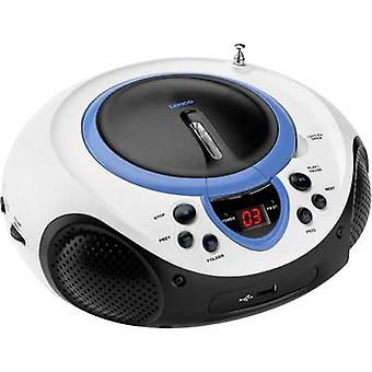 FM Radio/CD Lenco SCD-38 USB AUX, CD, FM, USB azul