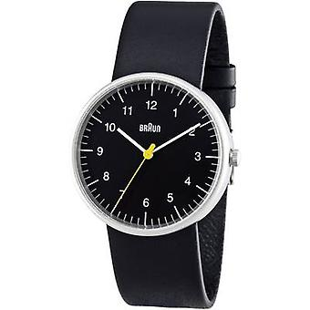 Braun Classic ur med læderrem (BN0021BKBKG)