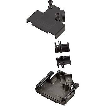 MH Connectors MHD45ZK-9-BK-K D-SUB housing Number of pins: 9 Metal 45 ° Black 1 pc(s)
