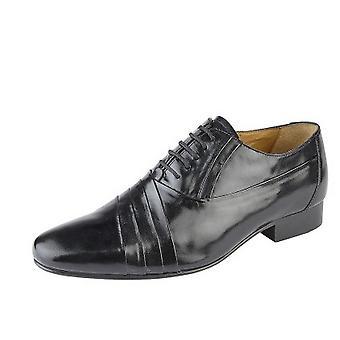 Kensington Mens Oxford Tie Pleated Vamp Casual Leather Shoe