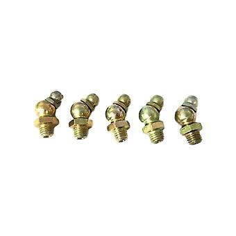 Big A 3-611000 Brass Pipe Nipple Grease Fittings 1/4-28 x 55/64 Lot Of 5 Pcs