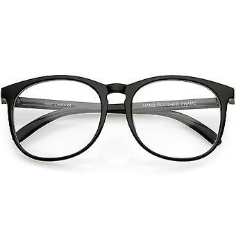 Klassinen Horn reunustetut neliön silmälasit selkeä linssi 54mm