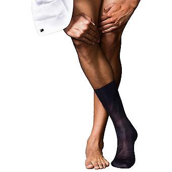 Falke No4 puhdasta silkki Midcalf sukat - Tumma laivastonsininen