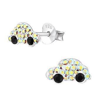 Автомобиль - 925 стерлингового серебра кристалл уха шпильки - W38294x