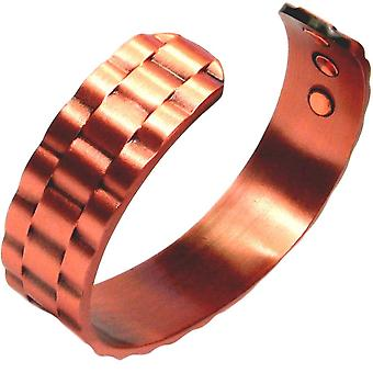 MPS® chaîne ondulée bracelet magnétique en cuivre pur avec 6 aimants avec pochette cadeau de luxe