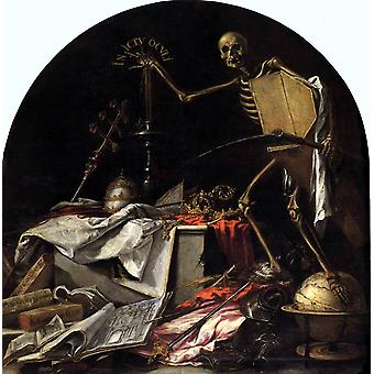 Allegory of Death, Juan de Valdes Leal, 50x50cm